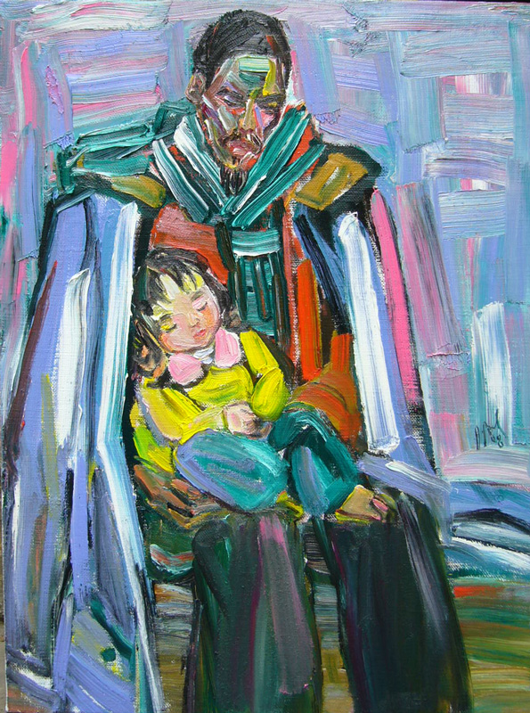 The artist & his daughter #1 – 2008