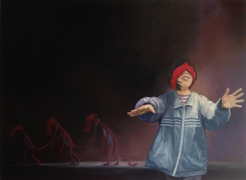 1.RealShow, Hiding 1.2.3 #1,120 x 160 cm, oil on canvas 2015