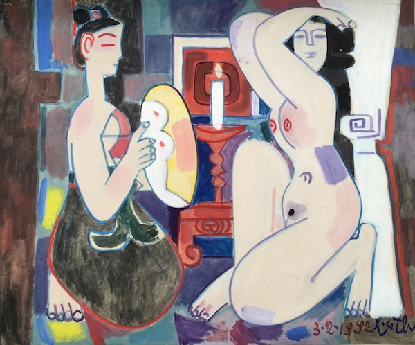 Nude looking at the mirror – 1992