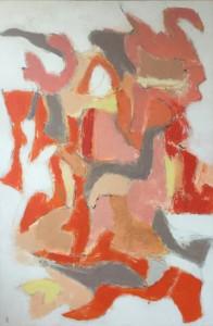 3.Cân bằng với gia đình #3, 98 x 148cm, acrylic on canvas,2018